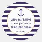 Zeevaart Marine & de Witte Gunst van het Huwelijk Ronde Sticker