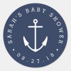 Zeevaart Marine en het Witte Baby shower van het Ronde Sticker