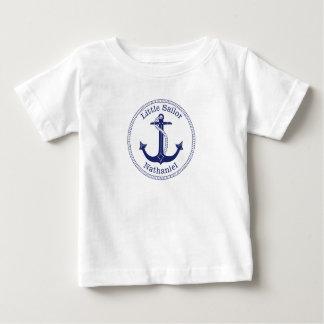 Zeevaart Marineblauw Anker Weinig Naam van de Baby T Shirts