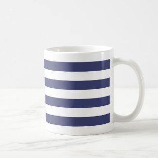 Zeevaart Marineblauwe en Witte Strepen Koffiemok