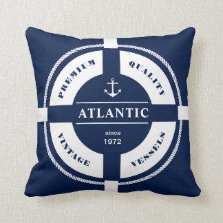 Zeevaart, maritiem, ringsboei, blauw, wit, sierkussen