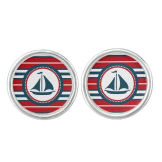 Zeevaart ontwerp manchetknopen