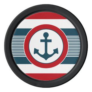 Zeevaart ontwerp pokerchips