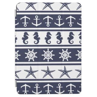 Zeevaart patroon op douane achtergrondkleur iPad air cover