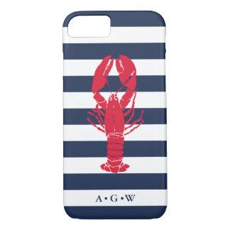 Zeevaart Preppy Streep & Zeekreeft | van de Marine iPhone 8/7 Hoesje