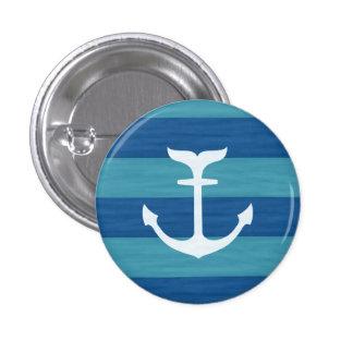 Zeevaart Strepen met de Knopen van het Anker Ronde Button 3,2 Cm