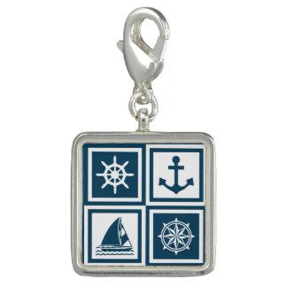 Zeevaart themed ontwerp foto charm
