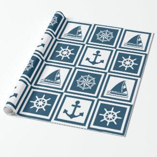 Zeevaart themed ontwerp inpakpapier