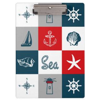 Zeevaart themed ontwerp klembord