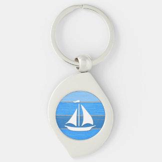 Zeevaart themed ontwerp sleutelhanger