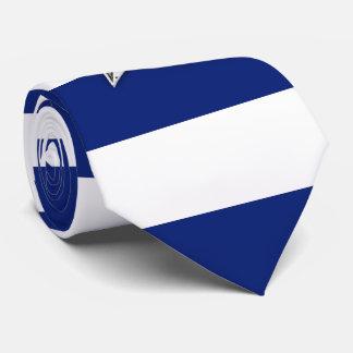 Zeevaart Zilveren Ster op marineblauwe Strepen Eigen Stropdas