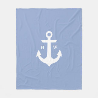 ZeevaartMonogram van het Anker van de sereniteit Fleece Deken