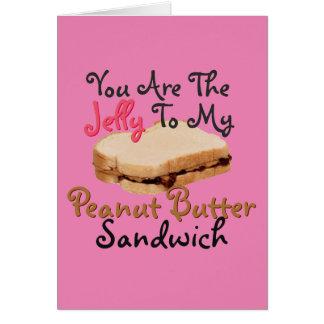 Zeg de Liefde van I u met De Sandwich van de Gelei Briefkaarten 0