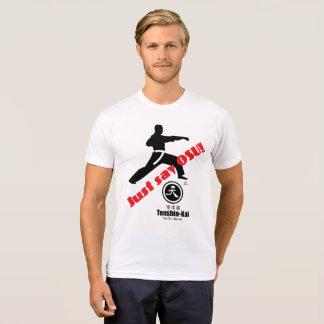 Zeg enkel de T-shirt van de Karate van Osu Tenshin