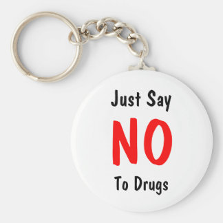 Zeg enkel, nr, aan Drugs Sleutelhanger