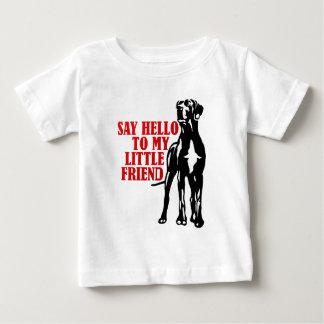 zeg hello aan mijn kleine vriend baby t shirts