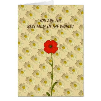 Zeg het met bloemen: gelukkig moederdag kaart