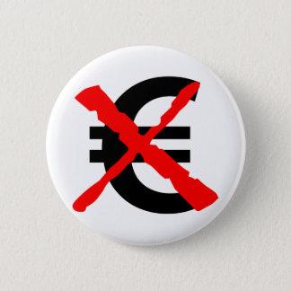 Zeg Nr aan de Euro! Ronde Button 5,7 Cm