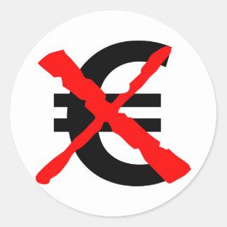 Zeg Nr aan de Euro! Ronde Sticker