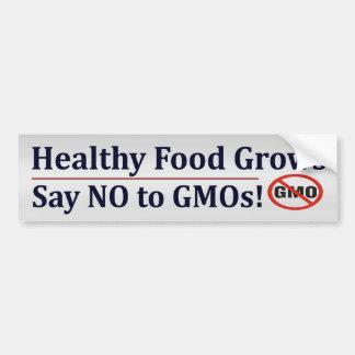 Zeg nr aan GMO Bumpersticker