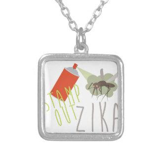 Zegel uit Zika Zilver Vergulden Ketting