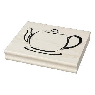 Zegel van de Pot van de thee de Houten Blok Rubberstempel