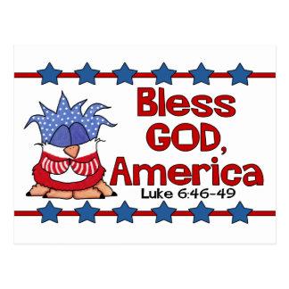 Zegen God, het 6:46 van Amerika Luke - de Briefkaart