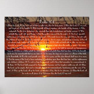 Zegen van het de bijbelvers van Lord Psalm 103 Poster