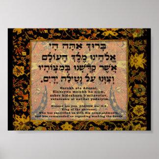 Zegen voor de Was van de Hand Poster