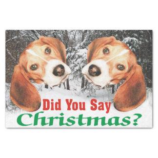 Zei u Kerstmis? Het Papieren zakdoekje van de brak 25,4 X 38,1 Cm Zijdepapier