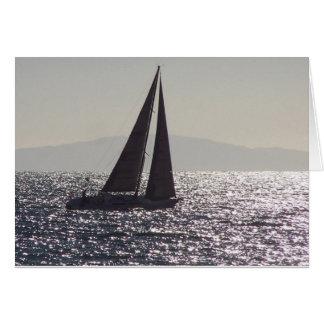 Zeilboot & Catalina Island Card Wenskaart