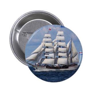 zeilboot ronde button 5,7 cm