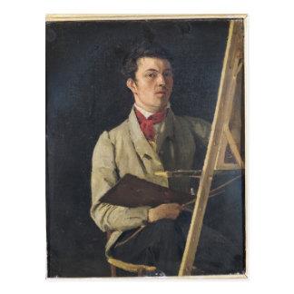 Zelf Portret, dat naast een Schildersezel, 1825 Briefkaart