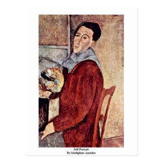 Zelf-portret door Modigliani Amedeo Briefkaart