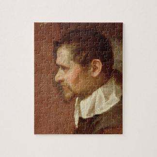 Zelf Portret in Profiel (olie op canvas) Foto Puzzels