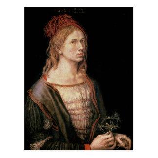 Zelf Portret met een Distel, 1493 Briefkaart