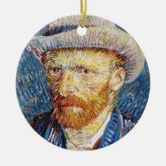 Zelf Portret met het Gevoelde art. van Vincent van Rond Keramisch Ornament