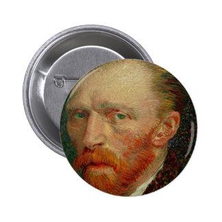 Zelf Portret van Vincent van Gogh Ronde Button 5,7 Cm