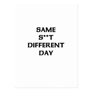 zelfde s** t verschillende dag briefkaart