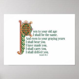 Zelfs aan uw Oude dag Poster