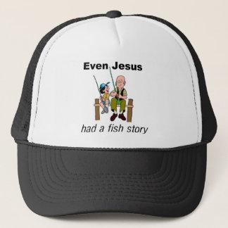 Zelfs had Jesus een Christelijk spreuk van het Trucker Pet