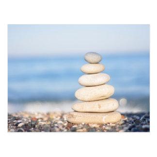 zen van de de zomerharmonie van het stenenzee de briefkaart