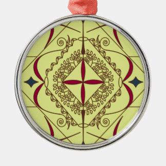 Zen Zilverkleurig Rond Ornament
