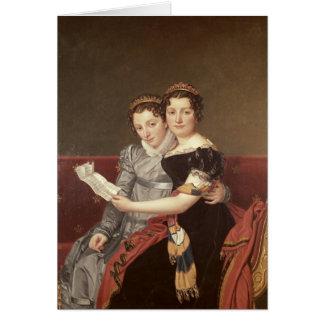 Zenaide en Charlotte Bonaparte, 1822 Kaart