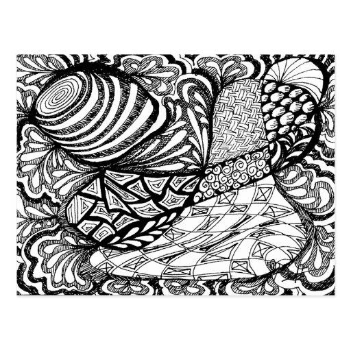 Zentangle in Pen & Inkt Wenskaart