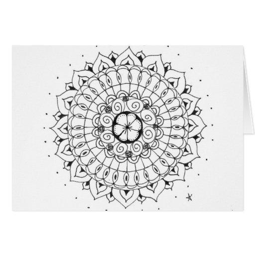 zentangle mandala - bloem kaart
