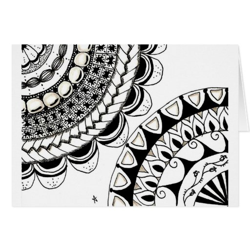 zentangle mandala - dubbele bloem kaarten