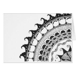 zentangle mandala - golven wenskaarten