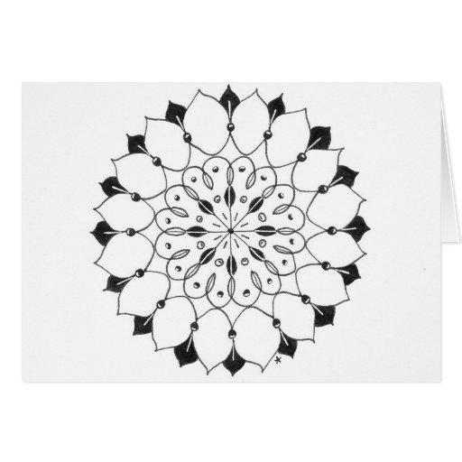 zentangle mandala - lotusbloem kaarten