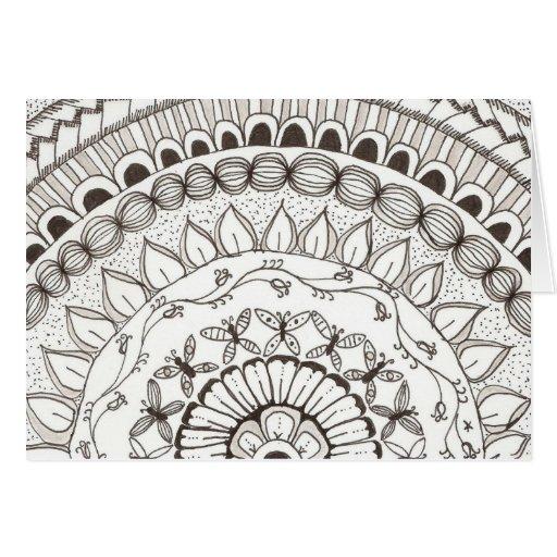 zentangle mandala - vlinders kaarten